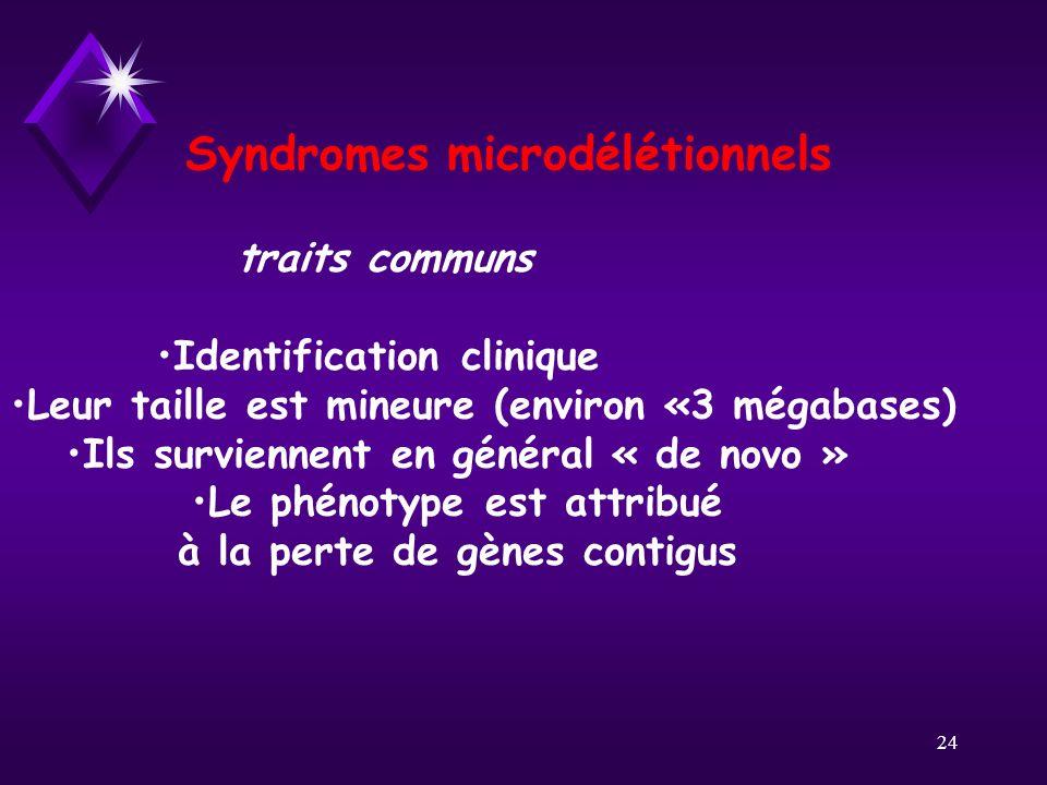 Syndromes microdélétionnels