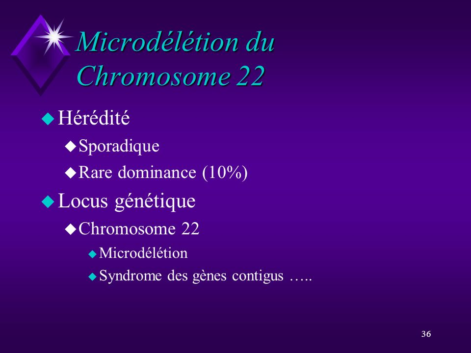 Microdélétion du Chromosome 22