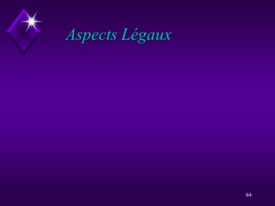 Aspects Légaux