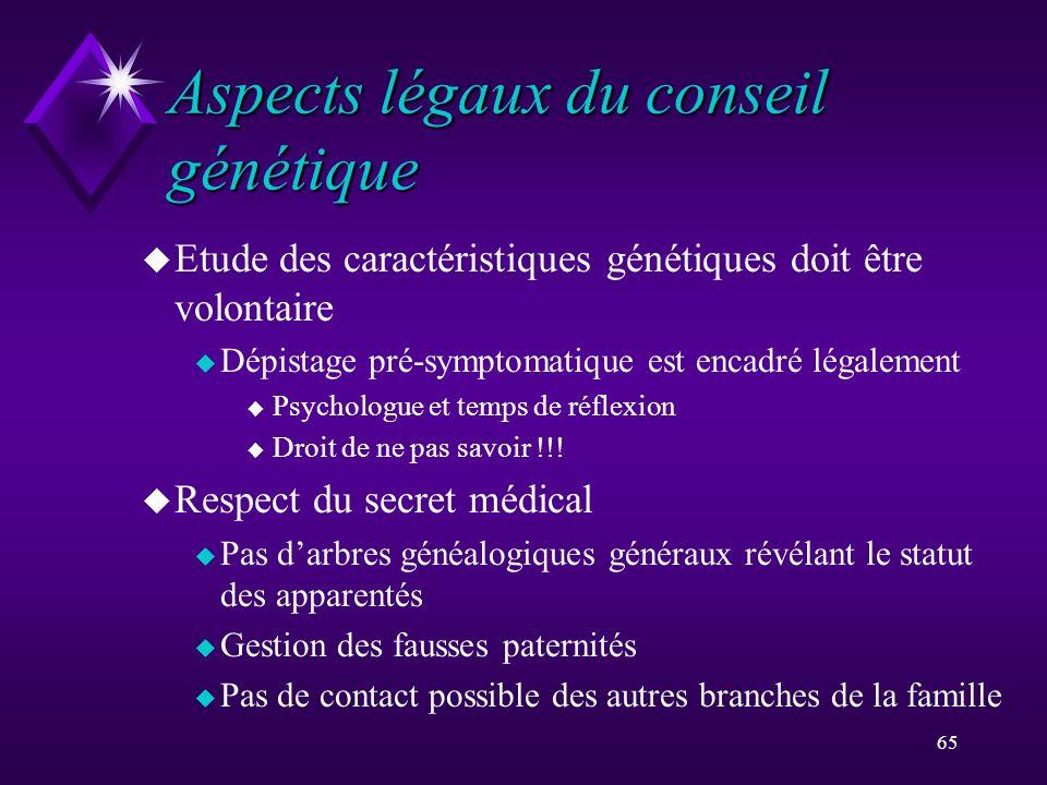 Aspects légaux du conseil génétique