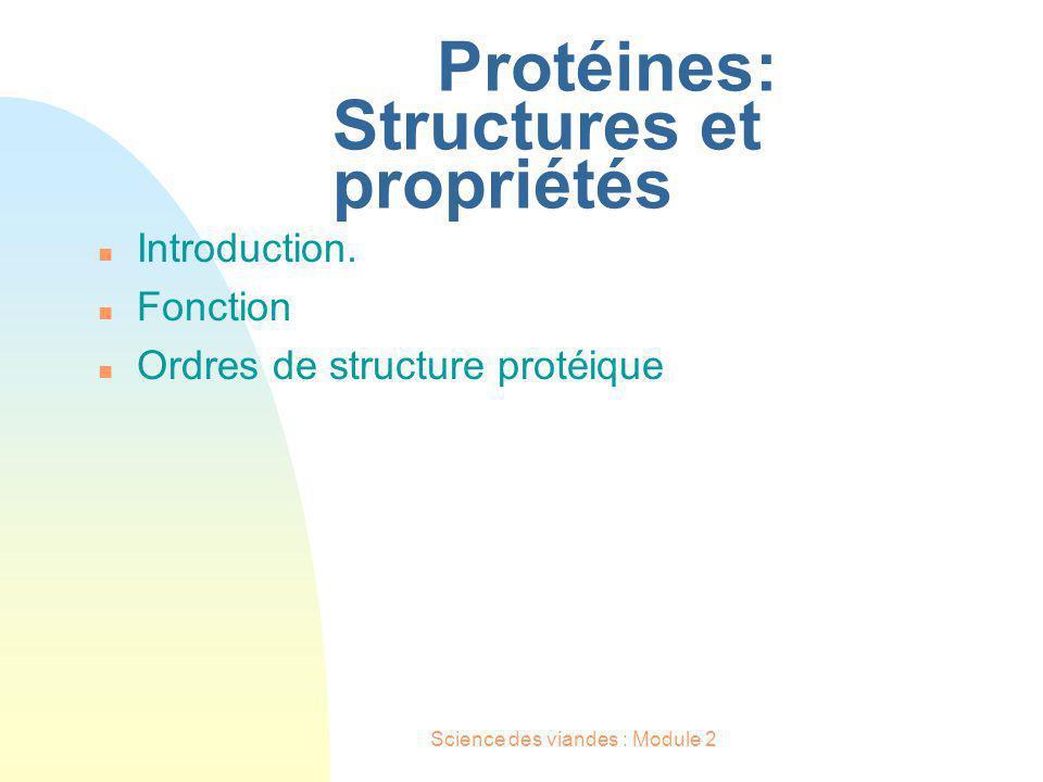 Protéines: Structures et propriétés