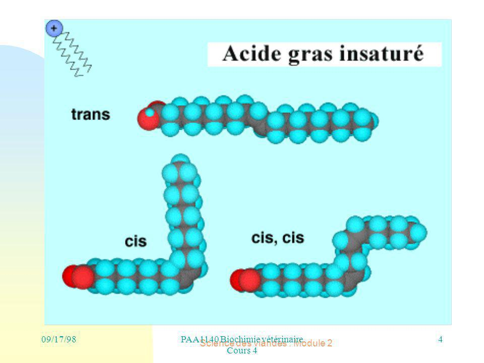 PAA1140 Biochimie vétérinaire Cours 4 Science des viandes : Module 2 4