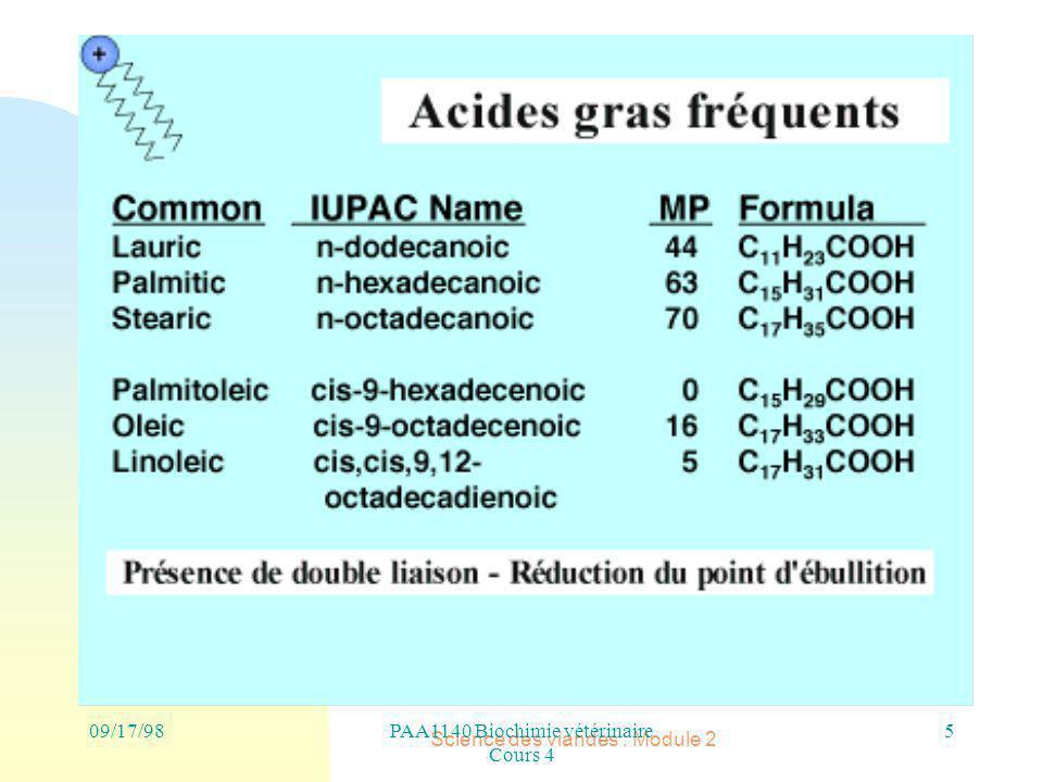 PAA1140 Biochimie vétérinaire Cours 4 Science des viandes : Module 2 5