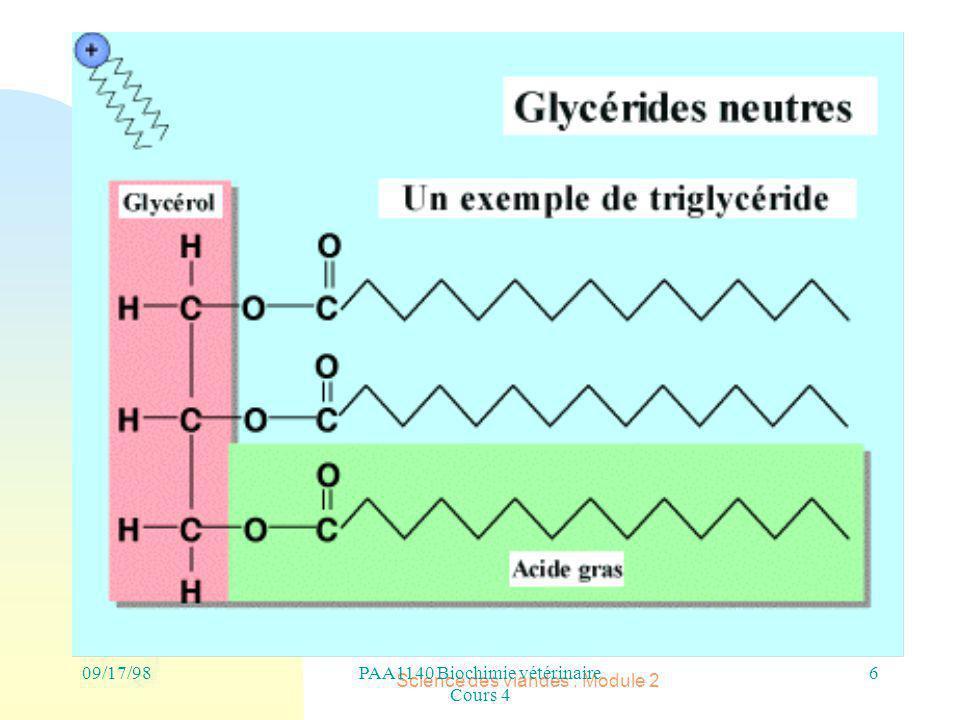 PAA1140 Biochimie vétérinaire Cours 4 Science des viandes : Module 2 6