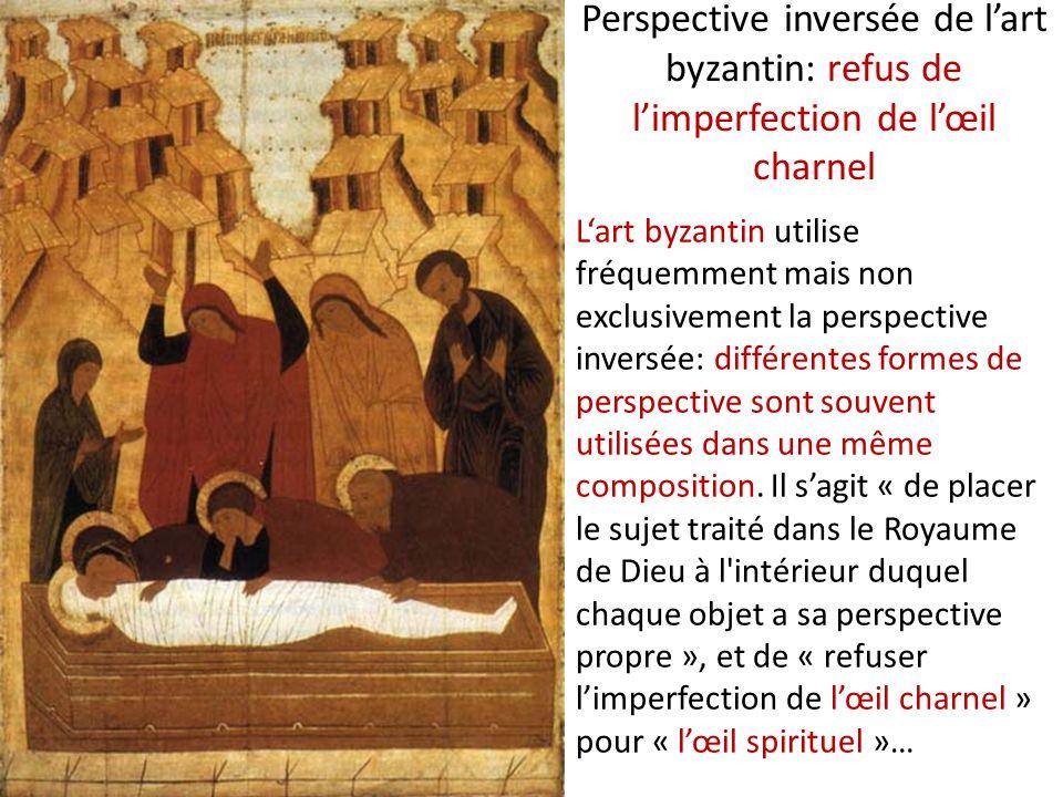 Perspective inversée de l'art byzantin: refus de l'imperfection de l'œil charnel