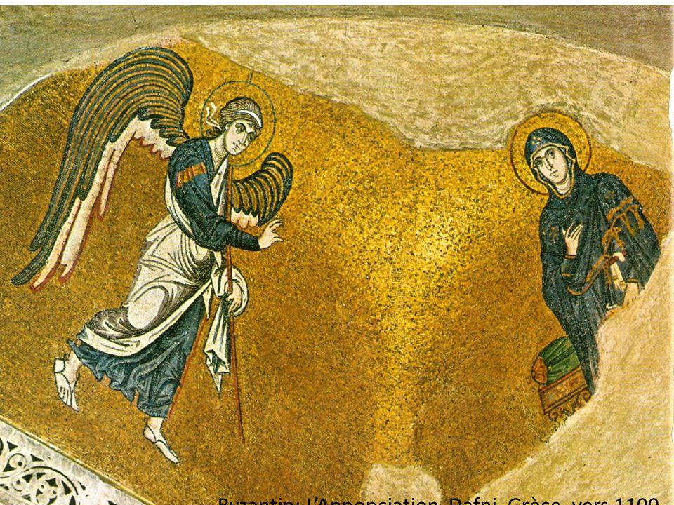 Byzantin: L'Annonciation, Dafni, Grèce, vers 1100