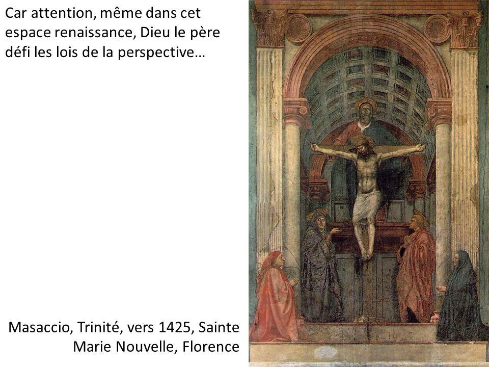 Masaccio, Trinité, vers 1425, Sainte Marie Nouvelle, Florence