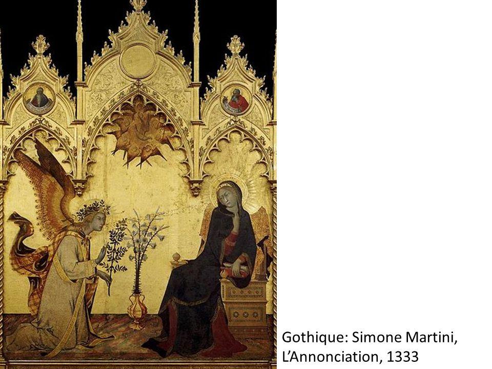 Gothique: Simone Martini, L'Annonciation, 1333