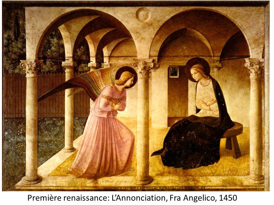 Première renaissance: L'Annonciation, Fra Angelico, 1450