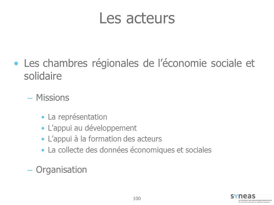 Les acteurs Les chambres régionales de l'économie sociale et solidaire