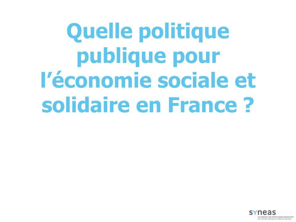 Quelle politique publique pour l'économie sociale et solidaire en France