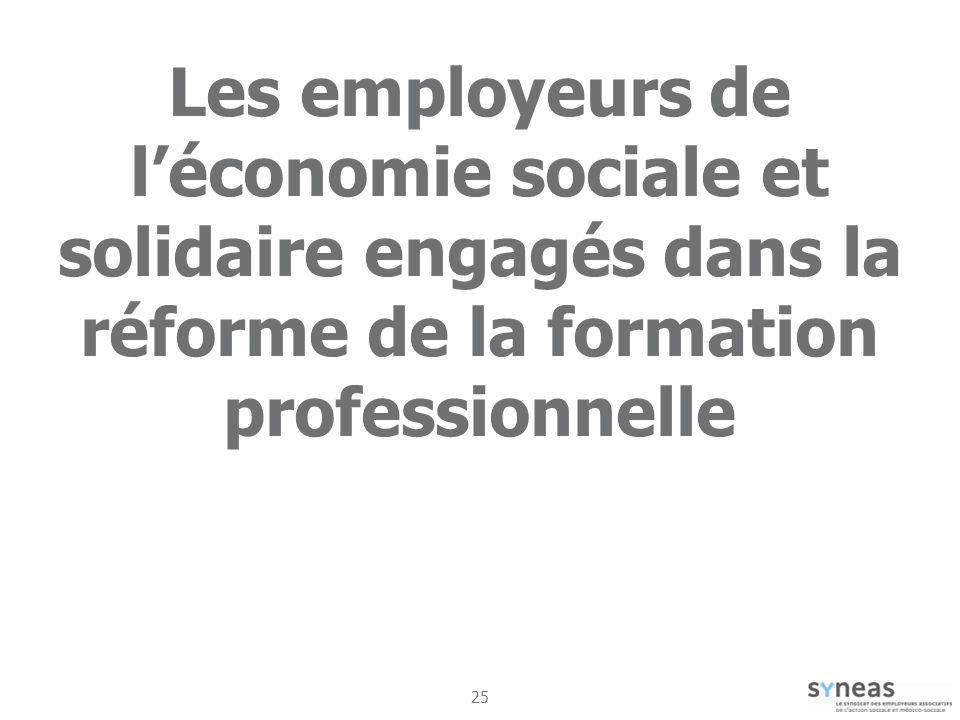 Les employeurs de l'économie sociale et solidaire engagés dans la réforme de la formation professionnelle