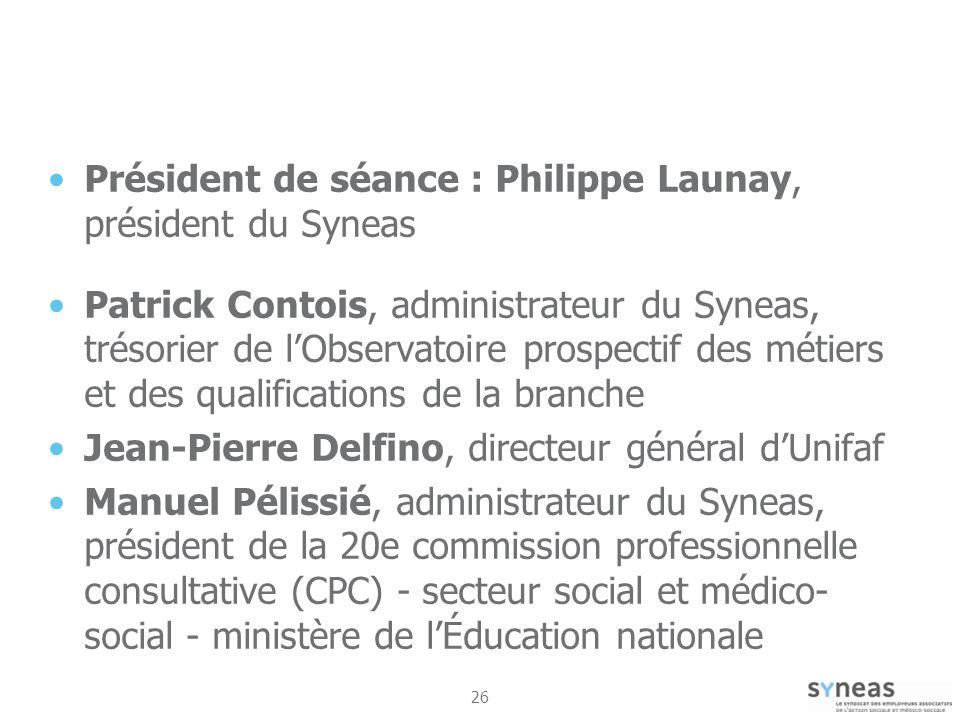 Président de séance : Philippe Launay, président du Syneas