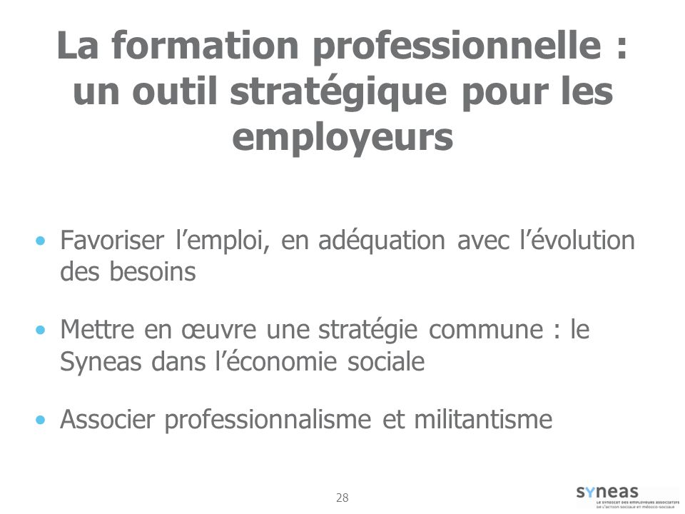 La formation professionnelle : un outil stratégique pour les employeurs