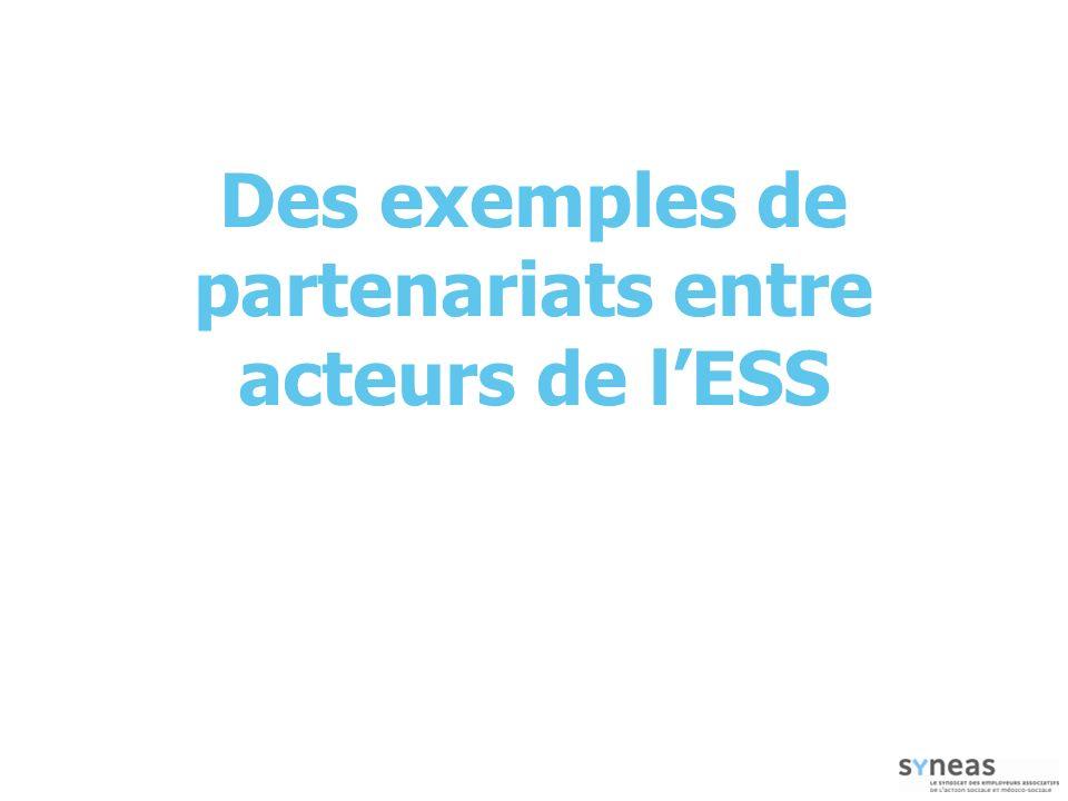 Des exemples de partenariats entre acteurs de l'ESS