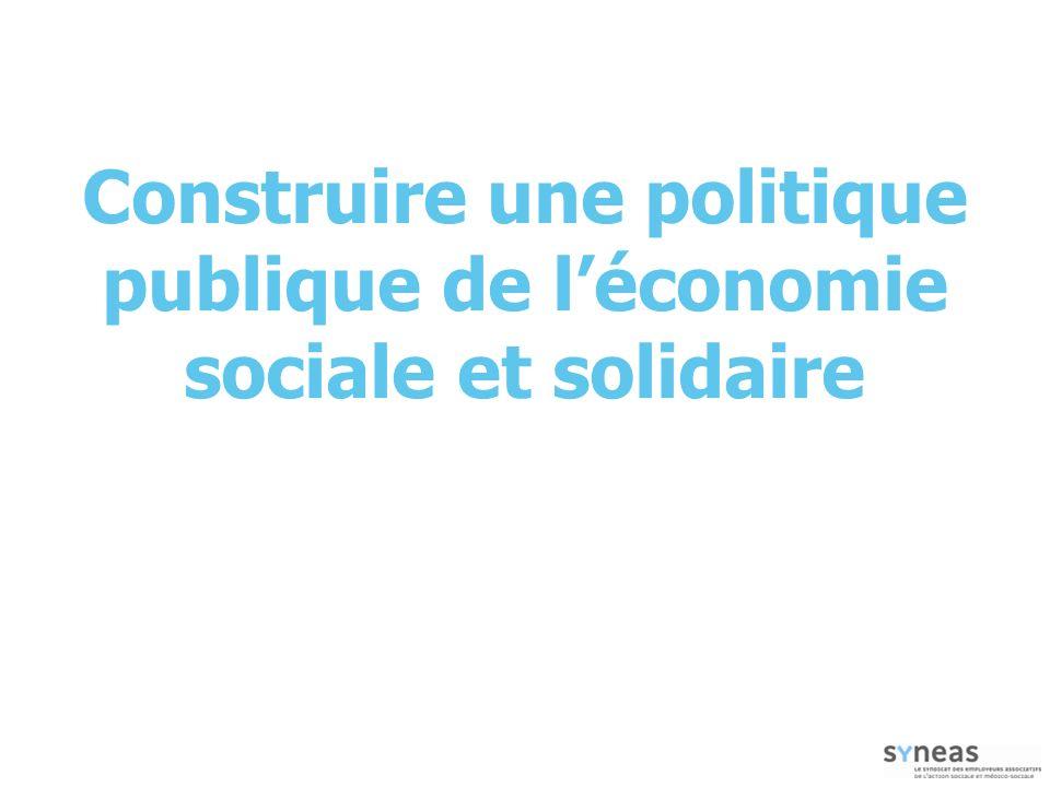 Construire une politique publique de l'économie sociale et solidaire
