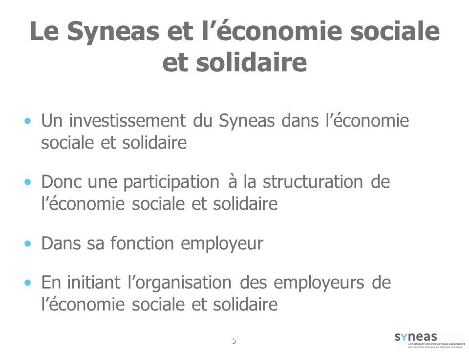 Le Syneas et l'économie sociale et solidaire