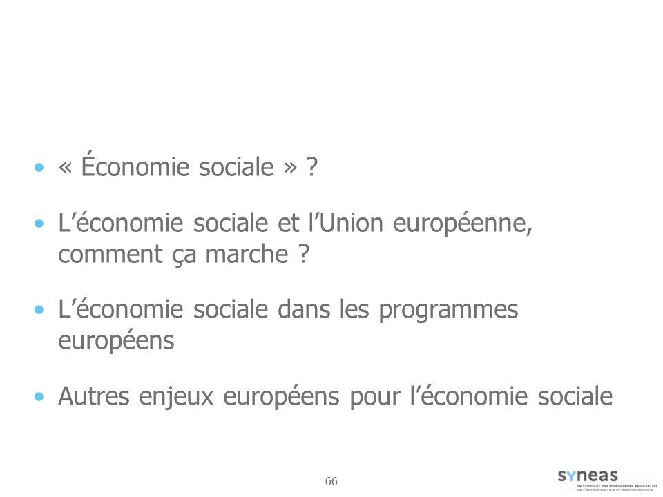 L'économie sociale et l'Union européenne, comment ça marche