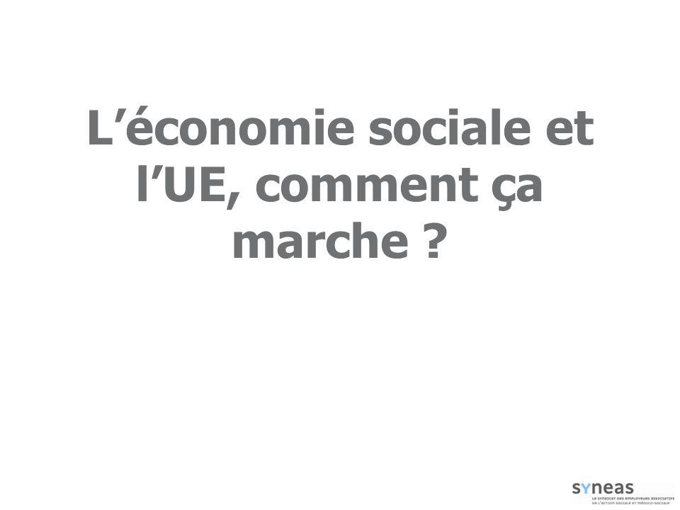 L'économie sociale et l'UE, comment ça marche
