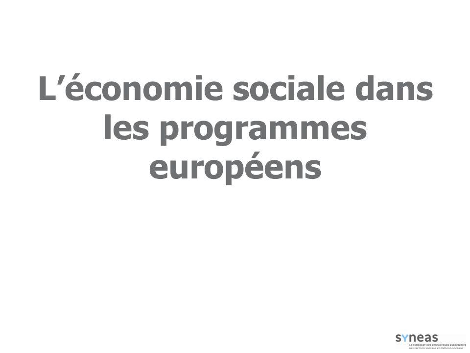 L'économie sociale dans les programmes européens