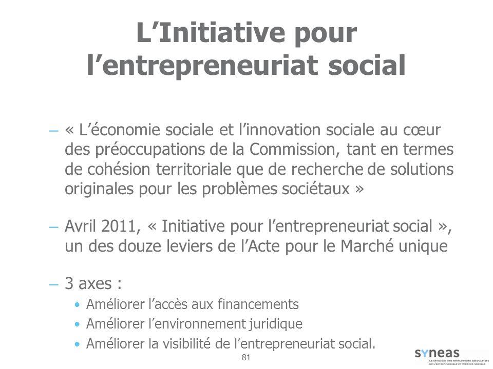 L'Initiative pour l'entrepreneuriat social