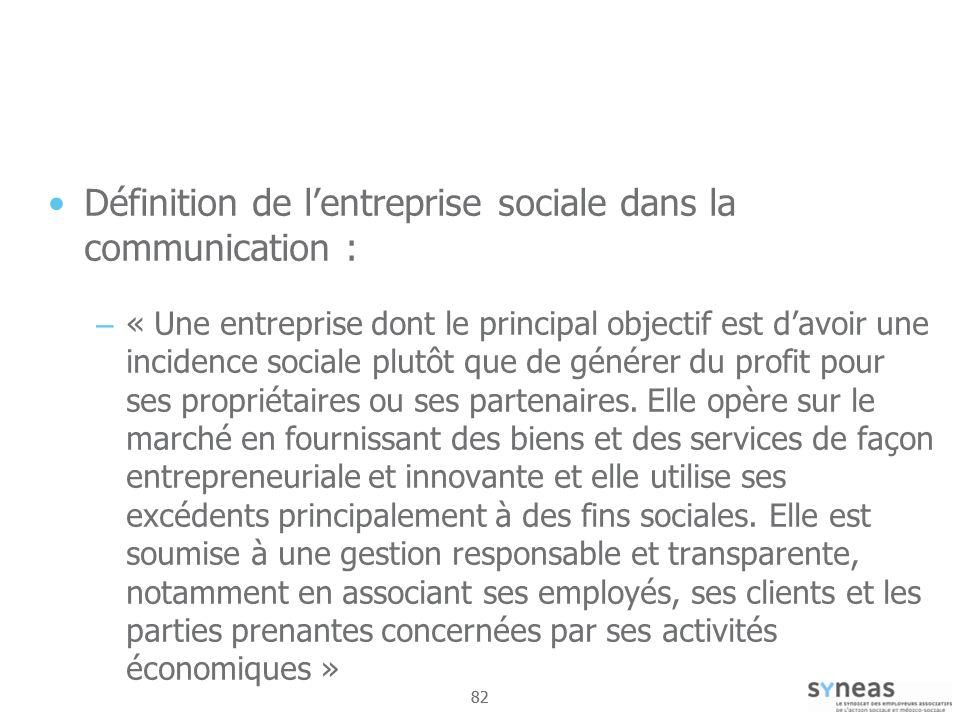 Définition de l'entreprise sociale dans la communication :