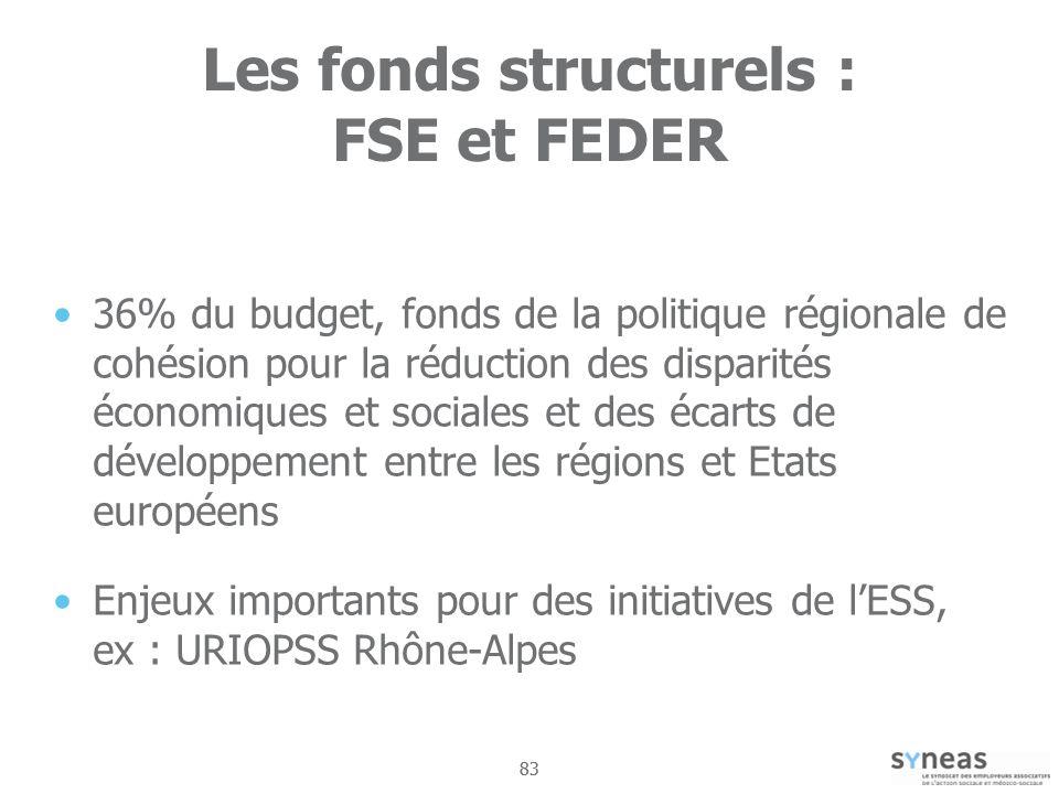 Les fonds structurels : FSE et FEDER