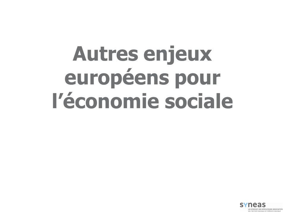 Autres enjeux européens pour l'économie sociale