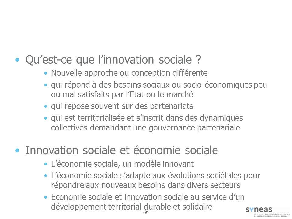 Qu'est-ce que l'innovation sociale