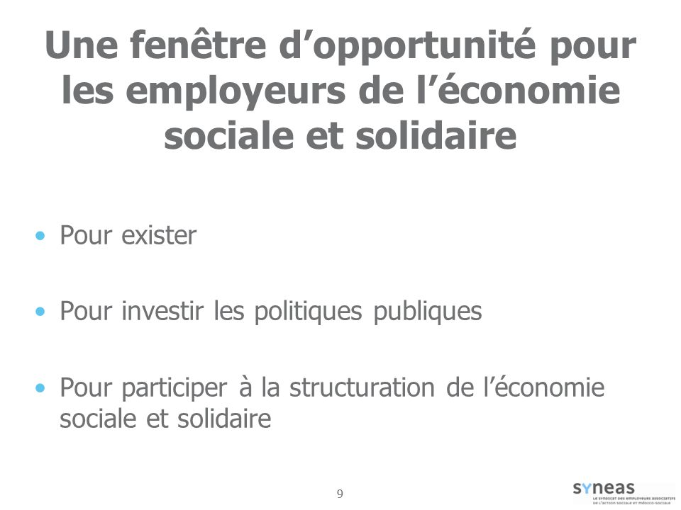 Une fenêtre d'opportunité pour les employeurs de l'économie sociale et solidaire