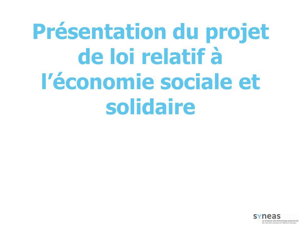 Présentation du projet de loi relatif à l'économie sociale et solidaire