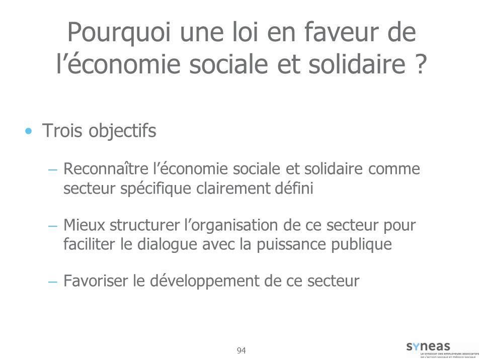 Pourquoi une loi en faveur de l'économie sociale et solidaire