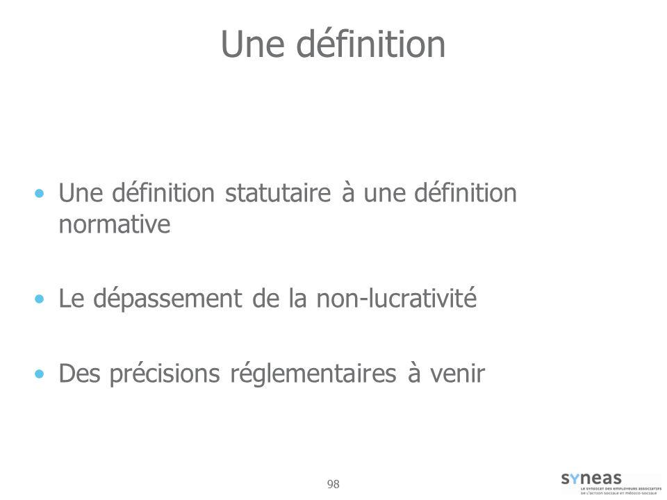 Une définition Une définition statutaire à une définition normative