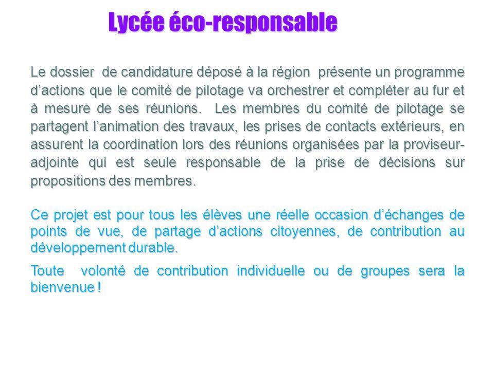 Lycée éco-responsable