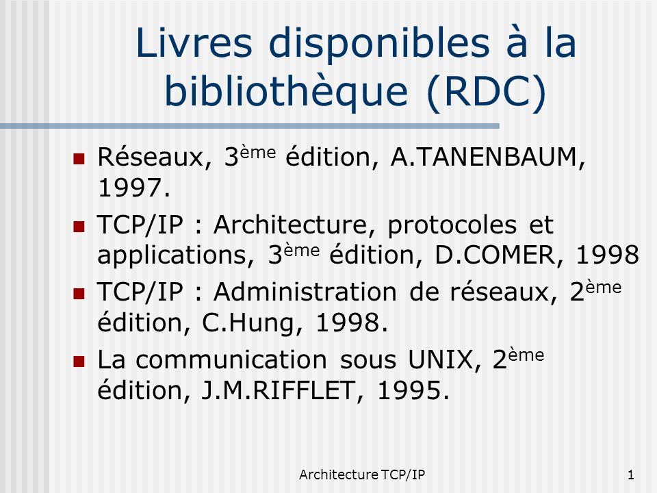 Livres disponibles à la bibliothèque (RDC)