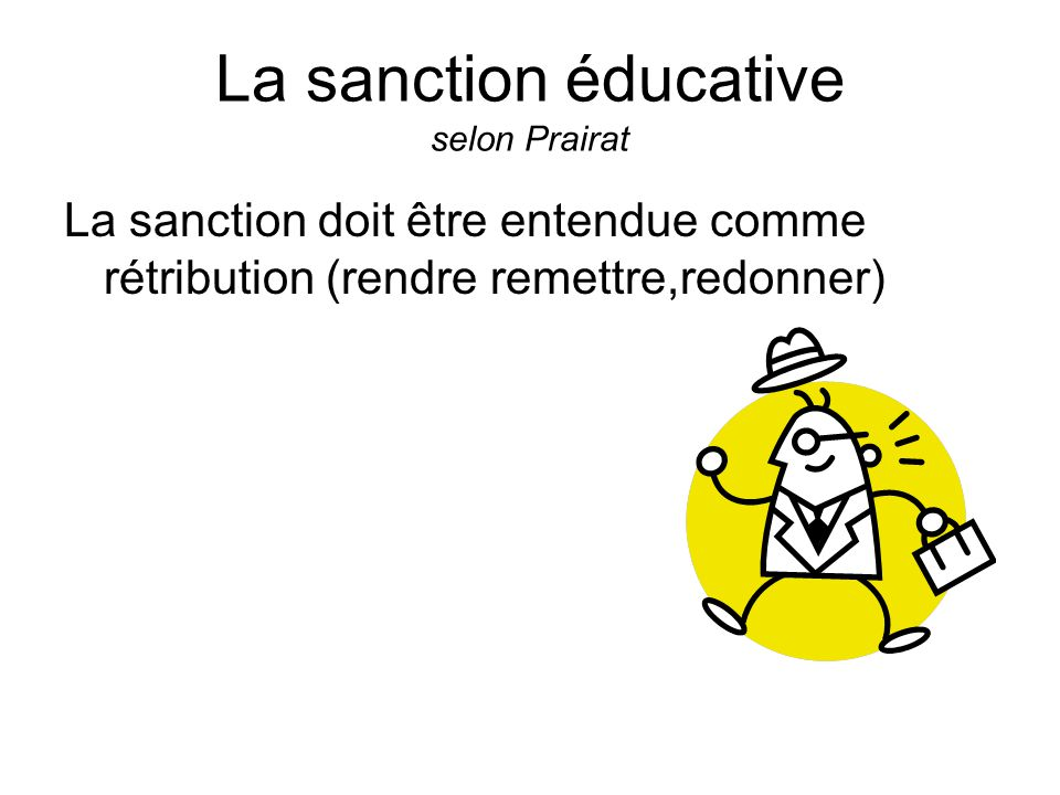 La sanction éducative selon Prairat