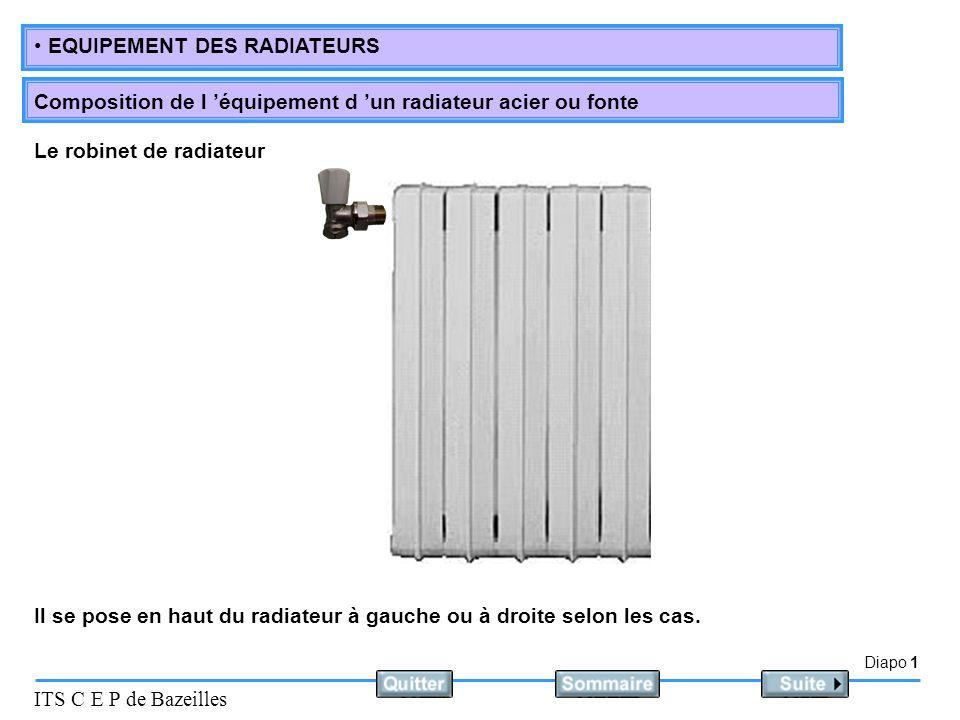 Le robinet de radiateur