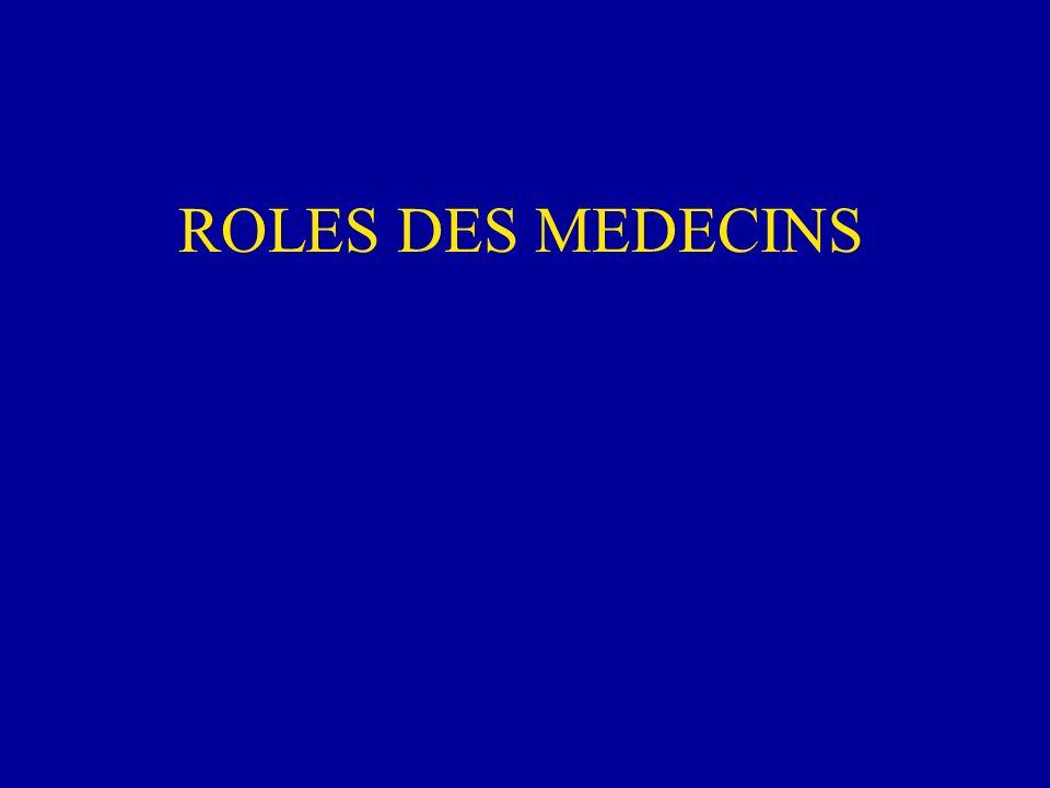 ROLES DES MEDECINS