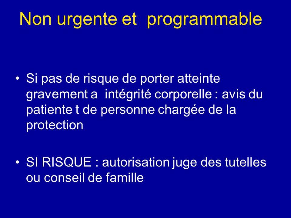 Non urgente et programmable
