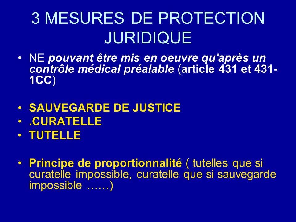 3 MESURES DE PROTECTION JURIDIQUE