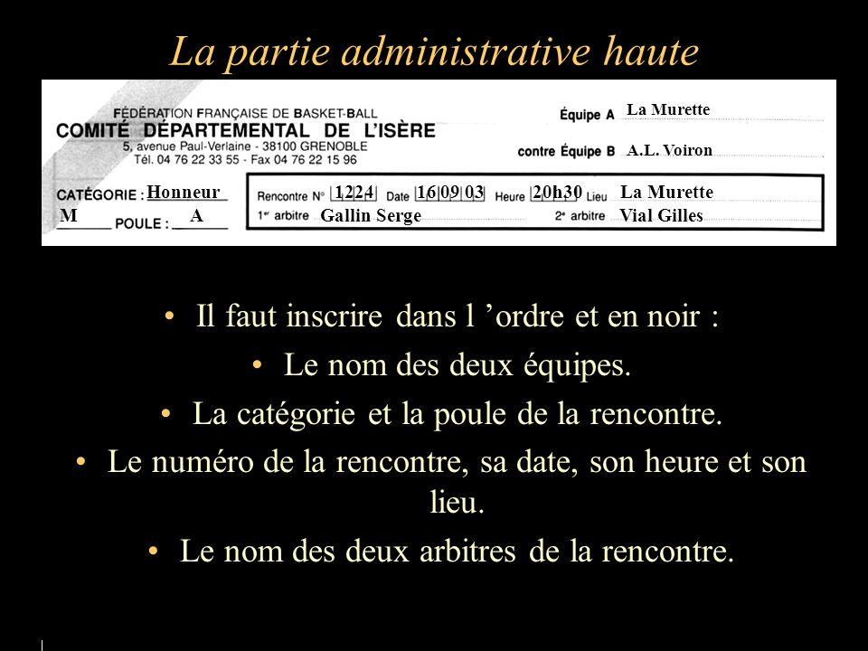 La partie administrative haute