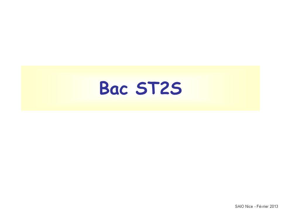 Bac ST2S SAIO Nice - Février 2013