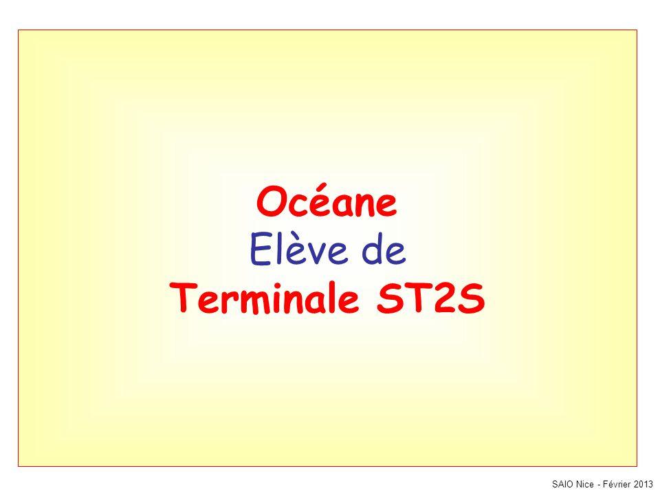 Océane Elève de Terminale ST2S