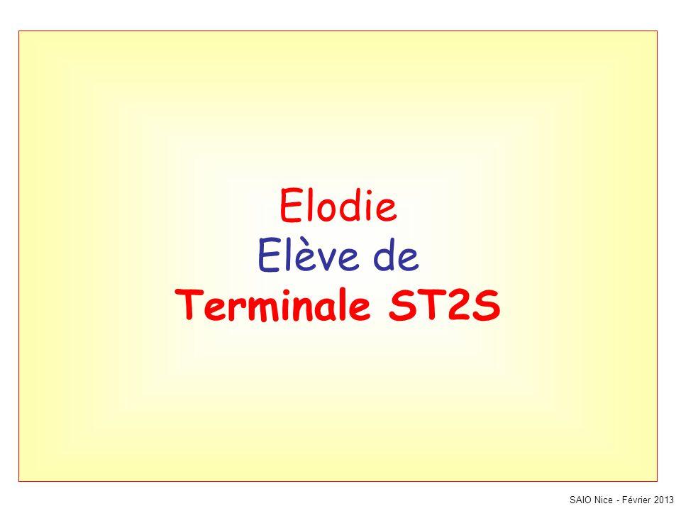 Elodie Elève de Terminale ST2S