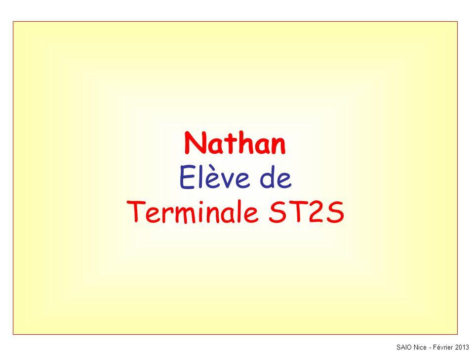 Nathan Elève de Terminale ST2S