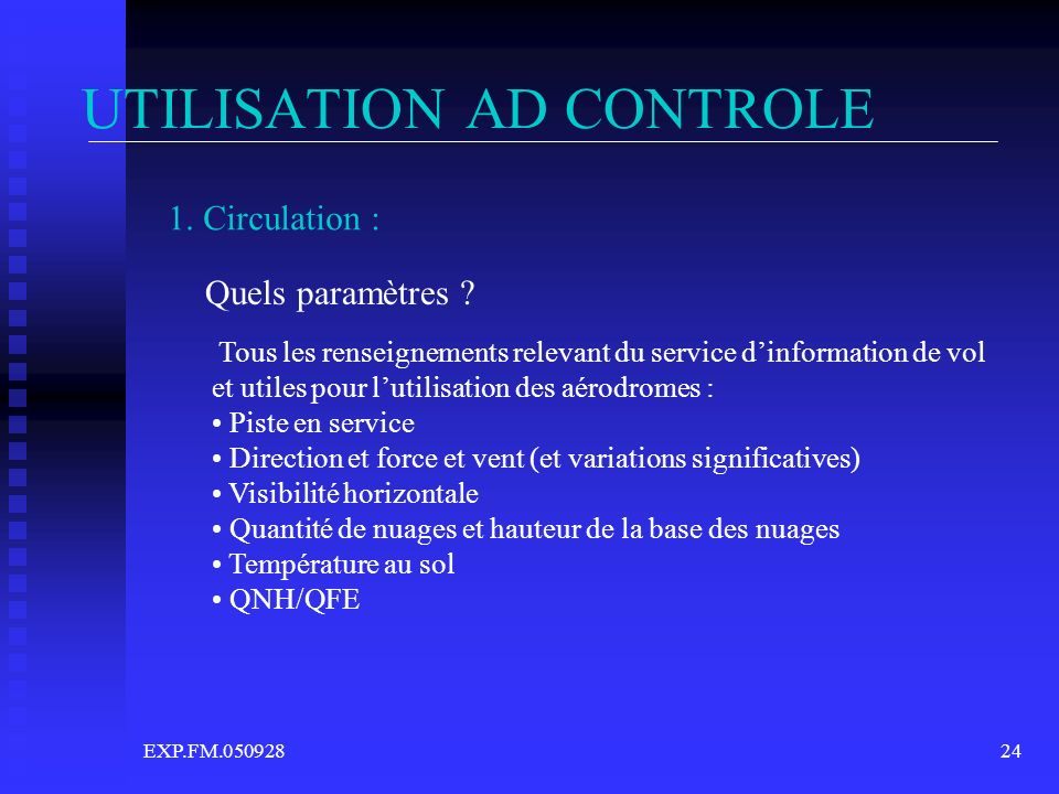 UTILISATION AD CONTROLE