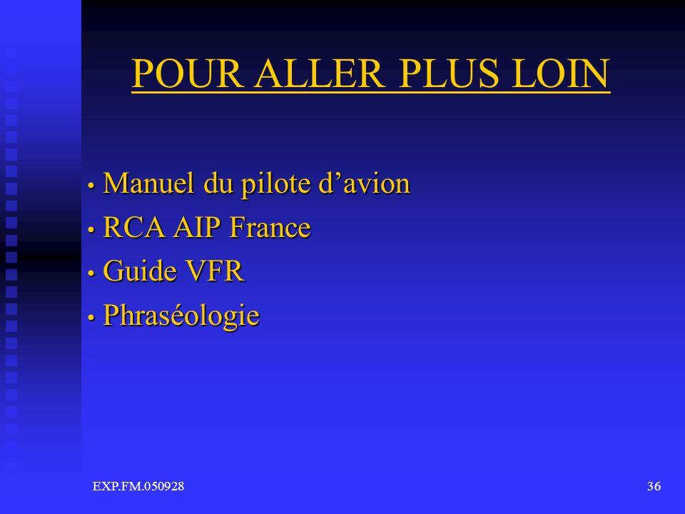 Manuel du pilote d'avion RCA AIP France Guide VFR Phraséologie