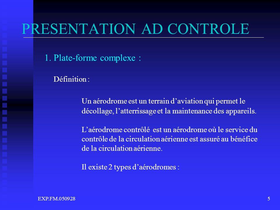 PRESENTATION AD CONTROLE