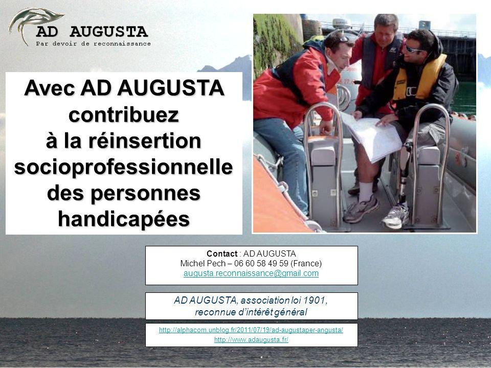 Avec AD AUGUSTA contribuez à la réinsertion socioprofessionnelle