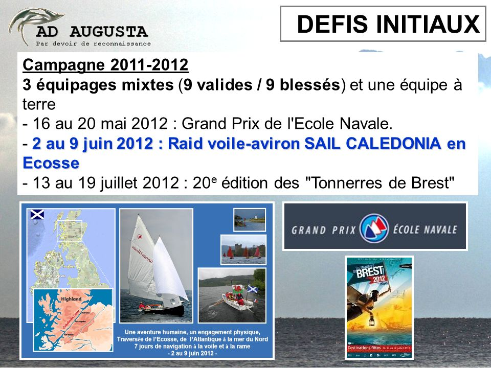 DEFIS INITIAUX Campagne 2011-2012